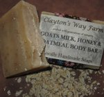 Goat Milk Honey & Oatmeal Body Bar